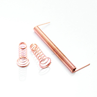 Precision spring of the copper plated steel wire