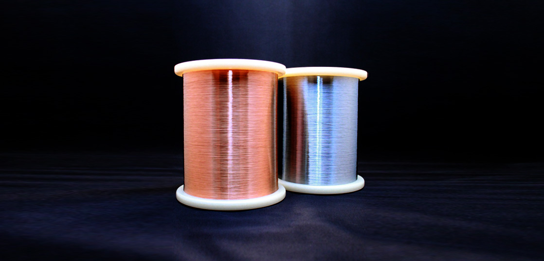 Plated extra fine steel wire